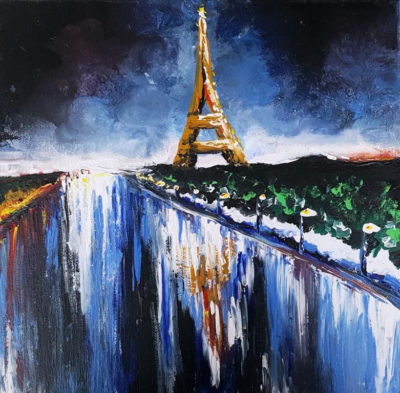 Eiffel Tower at Night sm