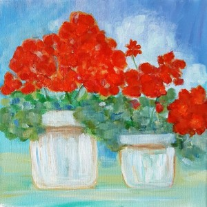 Red Geraniums II sm 300x300