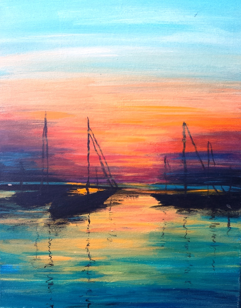 Sailboats at Sunset sm