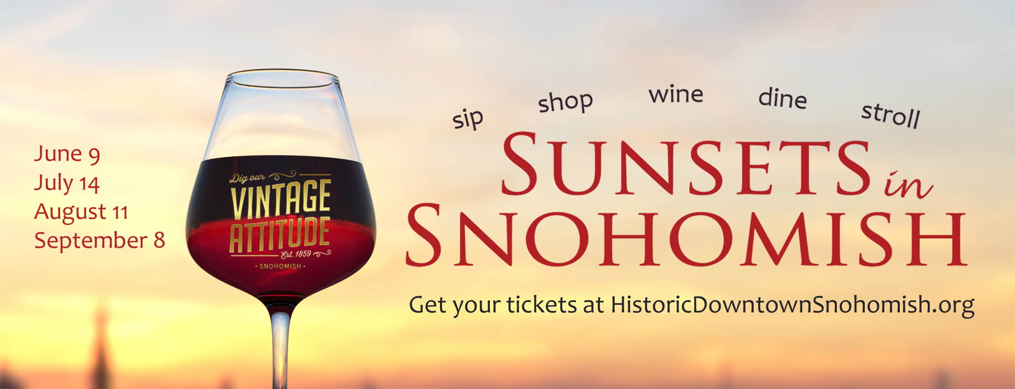 Sunsets in Snohomish 2018 banner