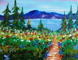 Wildflowers by the Lake sm 300x232