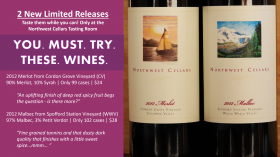 New Releases YOU. MUST. TRY. 2012 Merlot and 2012 Malbec