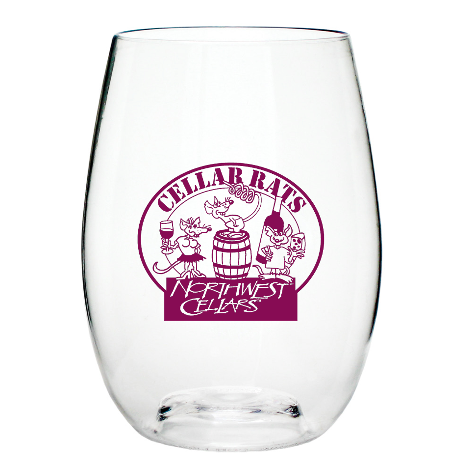 Cellar Rats Club Glass Transparent