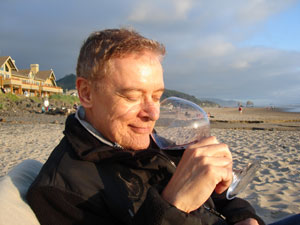 northwest cellars ceo bob delf sniffing wine