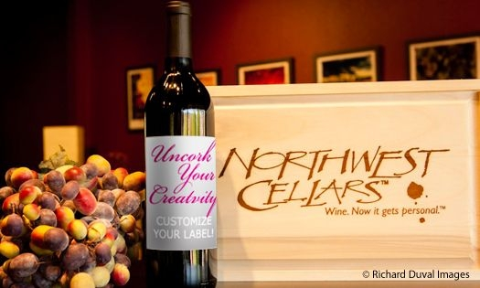 Northwest Cellars custom wine labels